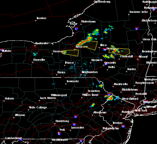Radar Image for Severe Thunderstorms near Auburn, NY at 7/20/2019 6:15 PM EDT