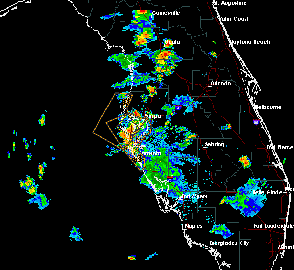 Radar Image for Severe Thunderstorms near Tampa, FL at 7/20/2019 6:29 PM EDT