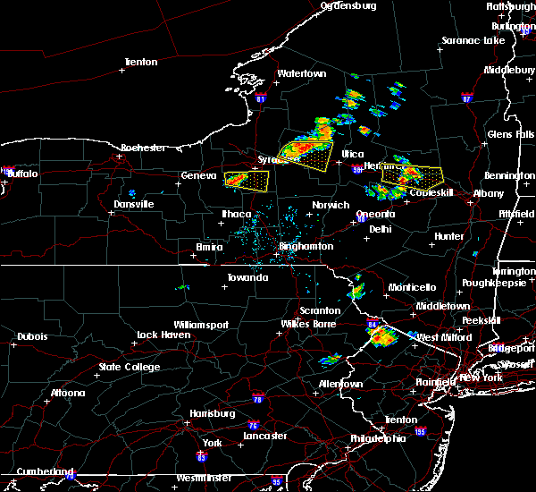 Radar Image for Severe Thunderstorms near Syracuse, NY at 7/20/2019 6:36 PM EDT