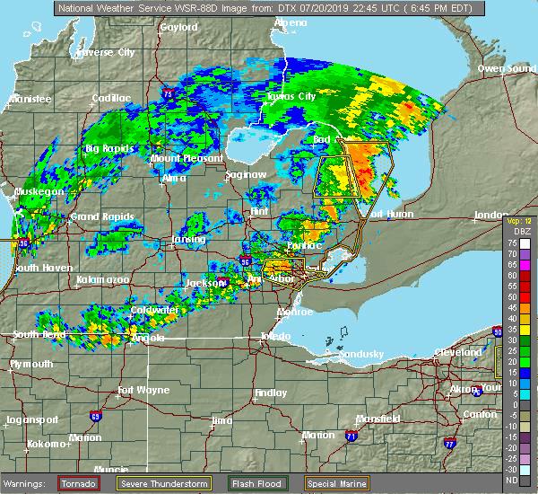 Interactive Hail Maps Hail Map For Westland Mi A radar image indicating where precipitation is occurring. hail map for westland mi