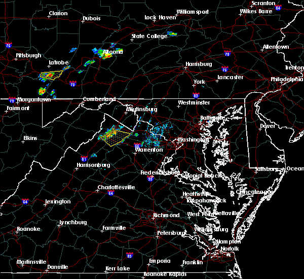 Radar Image for Severe Thunderstorms near Winchester, VA at 7/20/2019 7:28 PM EDT