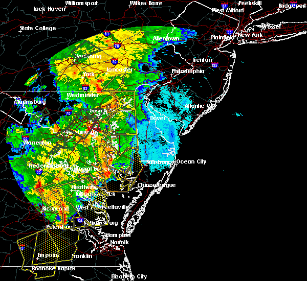 Radar Image for Severe Thunderstorms near Port Deposit, MD at 6/20/2015 10:20 PM EDT
