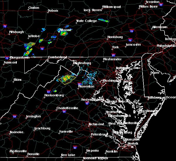 Radar Image for Severe Thunderstorms near Boyce, VA at 7/20/2019 7:45 PM EDT