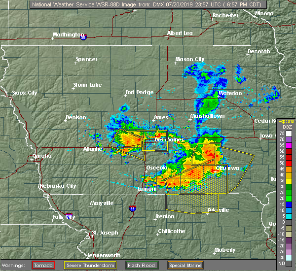 Radar Image for Severe Thunderstorms near Granger, IA at 7/20/2019 7:03 PM CDT