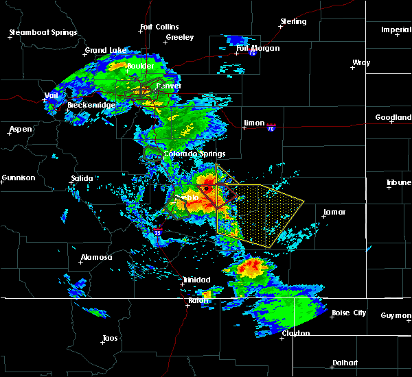 Radar Image for Severe Thunderstorms near North La Junta, CO at 7/20/2019 6:13 PM MDT