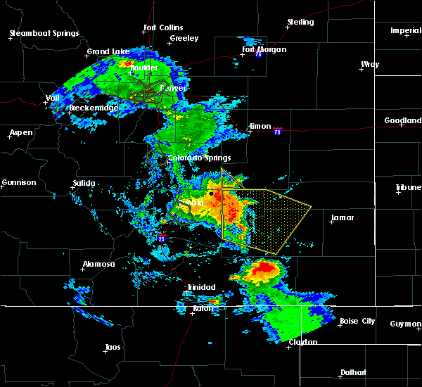 Radar Image for Severe Thunderstorms near North La Junta, CO at 7/20/2019 6:24 PM MDT
