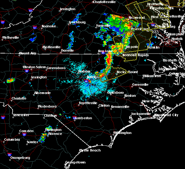 Radar Image for Severe Thunderstorms near Momeyer, NC at 6/20/2015 10:23 PM EDT
