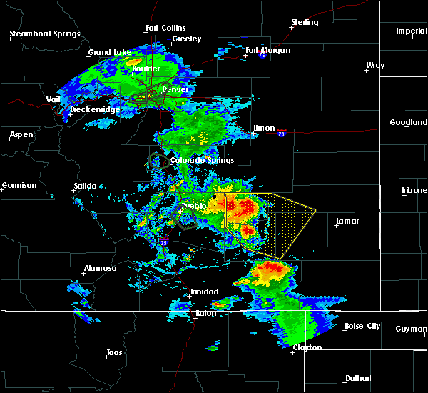 Radar Image for Severe Thunderstorms near La Junta, CO at 7/20/2019 6:34 PM MDT