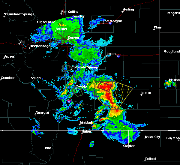 Radar Image for Severe Thunderstorms near North La Junta, CO at 7/20/2019 6:54 PM MDT