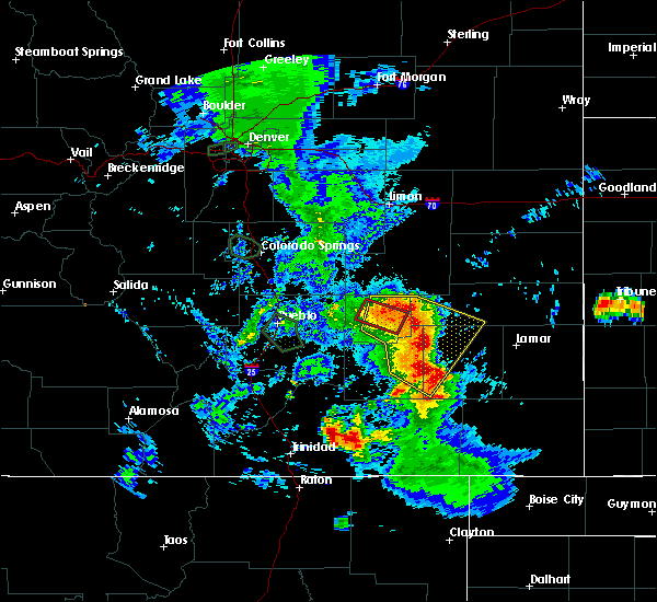 Radar Image for Severe Thunderstorms near Eads, CO at 7/20/2019 7:20 PM MDT