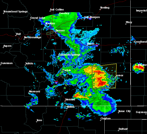 Radar Image for Severe Thunderstorms near Eads, CO at 7/20/2019 7:36 PM MDT