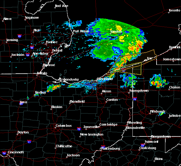 Radar Image for Severe Thunderstorms near North Perry, OH at 7/20/2019 9:49 PM EDT