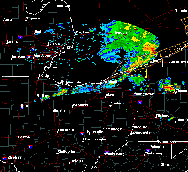 Radar Image for Severe Thunderstorms near Jefferson, OH at 7/20/2019 10:04 PM EDT