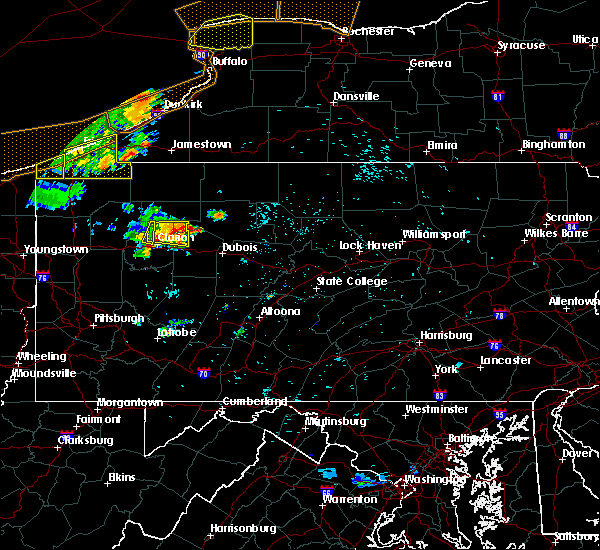 Radar Image for Severe Thunderstorms near Marianne, PA at 7/20/2019 10:50 PM EDT