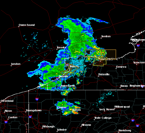 Radar Image for Severe Thunderstorms near Fairport, NY at 7/20/2019 11:41 PM EDT