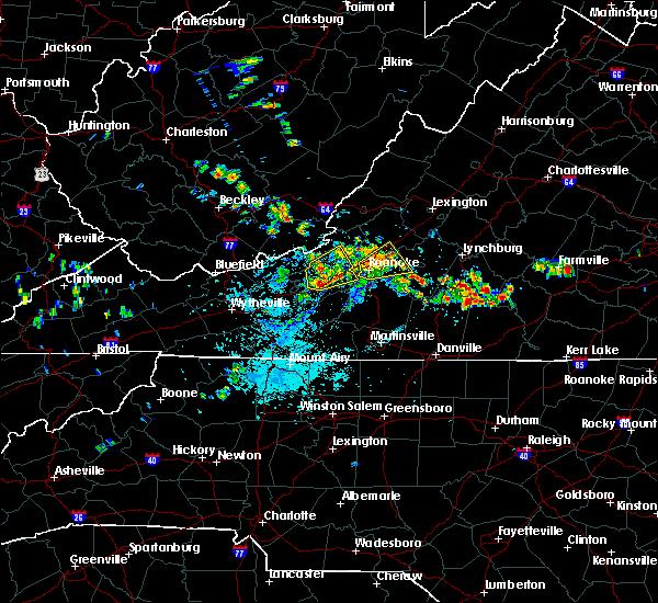 Radar Image for Severe Thunderstorms near Blacksburg, VA at 7/21/2019 1:50 PM EDT