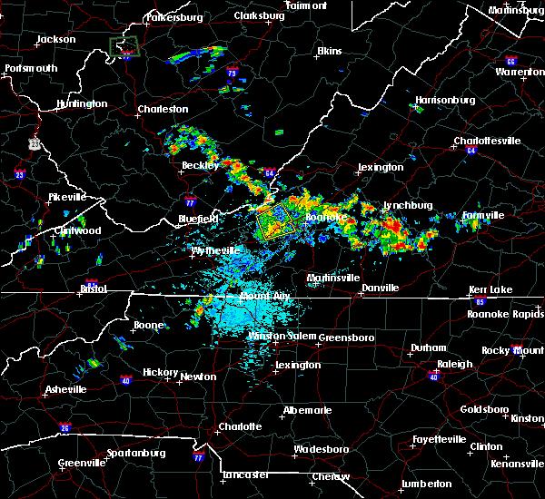 Radar Image for Severe Thunderstorms near Shawsville, VA at 7/21/2019 2:16 PM EDT