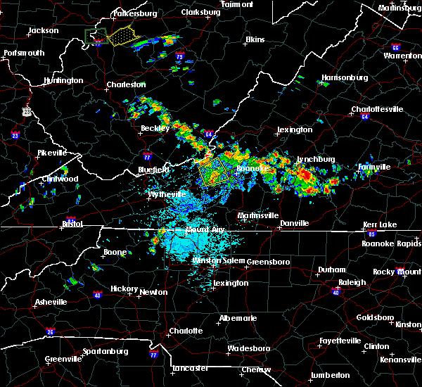 Radar Image for Severe Thunderstorms near Shawsville, VA at 7/21/2019 2:25 PM EDT