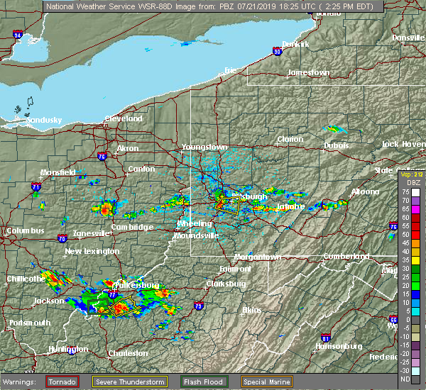 Radar Image for Severe Thunderstorms near Baldwin, PA at 7/21/2019 2:34 PM EDT