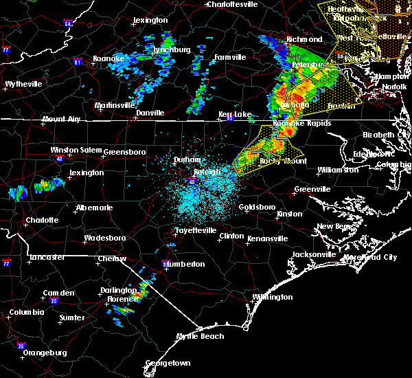 Radar Image for Severe Thunderstorms near Nashville, NC at 6/20/2015 10:33 PM EDT