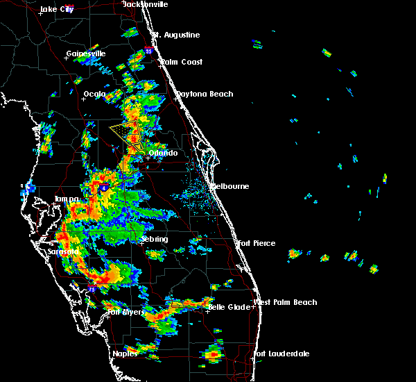Radar Image for Severe Thunderstorms near Wekiwa Springs, FL at 7/21/2019 3:40 PM EDT