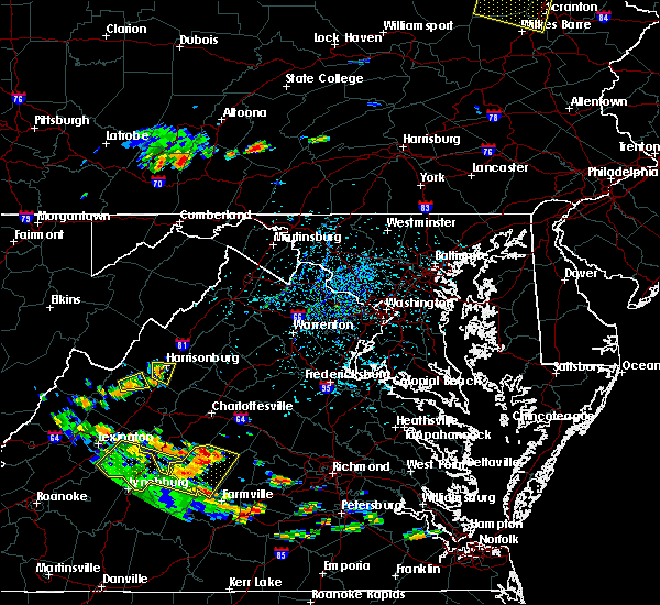 Radar Image for Severe Thunderstorms near Harrisonburg, VA at 7/21/2019 3:48 PM EDT