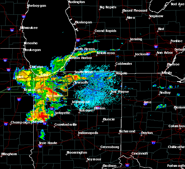Radar Image for Severe Thunderstorms near Winamac, IN at 7/21/2019 3:56 PM EDT
