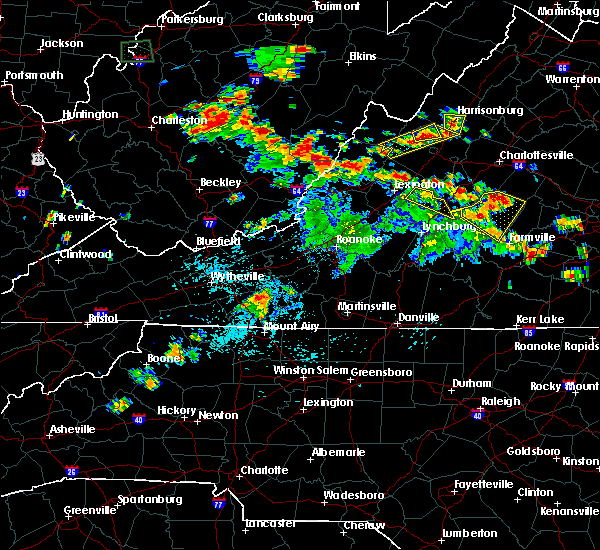 Radar Image for Severe Thunderstorms near Mount Sidney, VA at 7/21/2019 3:56 PM EDT