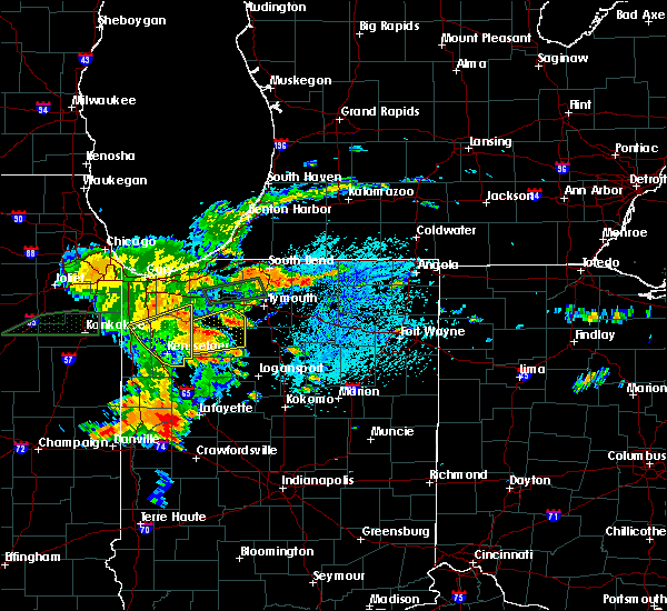 Radar Image for Severe Thunderstorms near Winamac, IN at 7/21/2019 4:08 PM EDT