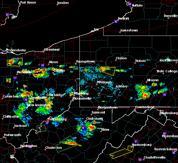 Radar Image for Severe Thunderstorms near Kittanning, PA at 7/21/2019 4:22 PM EDT