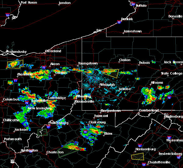 Radar Image for Severe Thunderstorms near Kittanning, PA at 7/21/2019 4:35 PM EDT