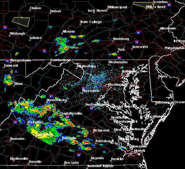 Radar Image for Severe Thunderstorms near New Hope, VA at 7/21/2019 4:38 PM EDT