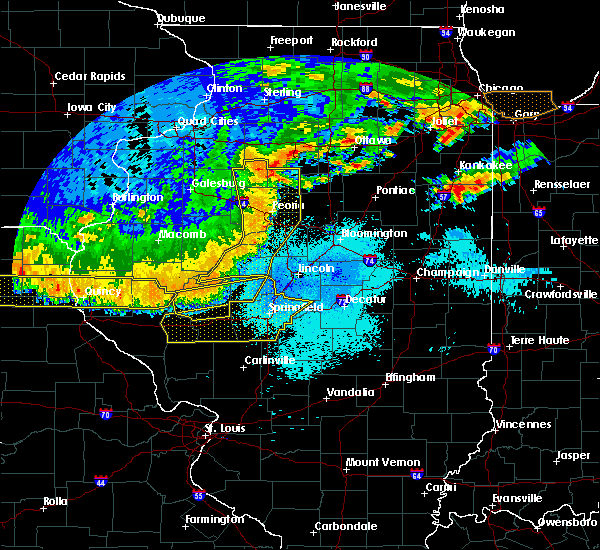 Radar Image for Severe Thunderstorms near Rochester, IL at 6/20/2015 9:37 PM CDT