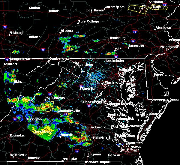 Radar Image for Severe Thunderstorms near Crimora, VA at 7/21/2019 4:53 PM EDT