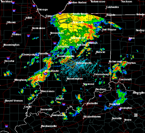 Radar Image for Severe Thunderstorms near Indianapolis, IN at 7/21/2019 5:47 PM EDT