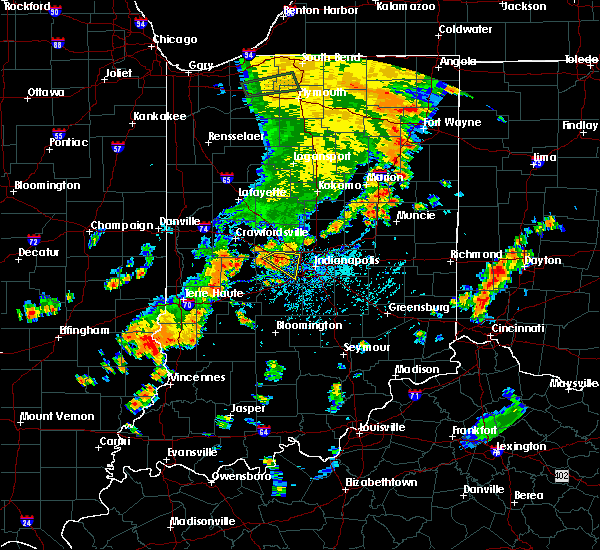 Radar Image for Severe Thunderstorms near Indianapolis, IN at 7/21/2019 6:04 PM EDT
