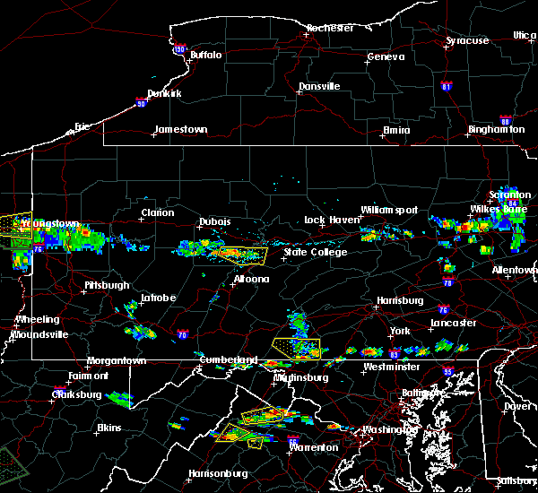 Radar Image for Severe Thunderstorms near Stormstown, PA at 7/21/2019 6:03 PM EDT