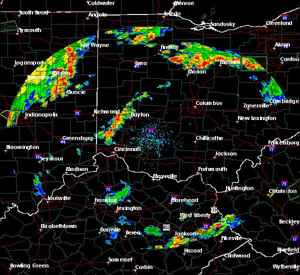 Radar Image for Severe Thunderstorms near Dayton, OH at 7/21/2019 6:11 PM EDT
