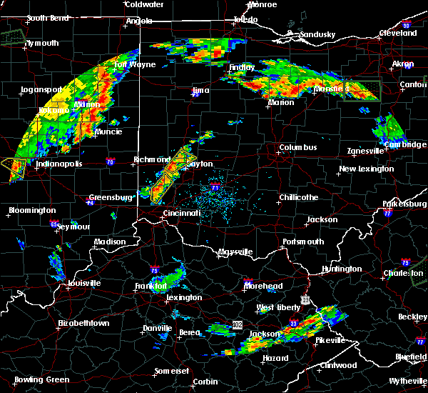 Radar Image for Severe Thunderstorms near Seven Mile, OH at 7/21/2019 6:16 PM EDT