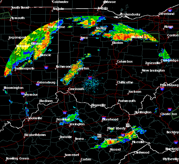 Radar Image for Severe Thunderstorms near Brookville, OH at 7/21/2019 6:32 PM EDT