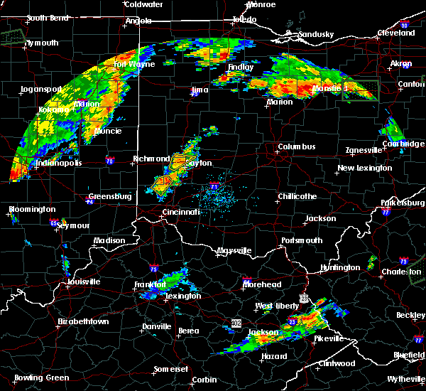 Radar Image for Severe Thunderstorms near Trenton, OH at 7/21/2019 6:34 PM EDT