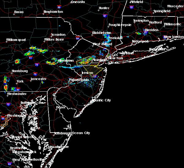 Radar Image for Severe Thunderstorms near Englishtown, NJ at 7/21/2019 7:26 PM EDT