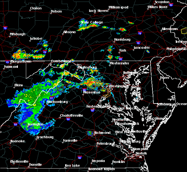Radar Image for Severe Thunderstorms near Dover, PA at 7/21/2019 7:29 PM EDT
