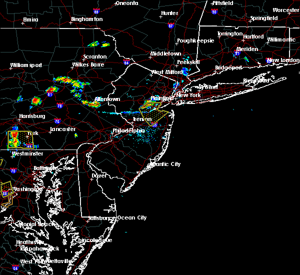 Radar Image for Severe Thunderstorms near Englishtown, NJ at 7/21/2019 7:46 PM EDT
