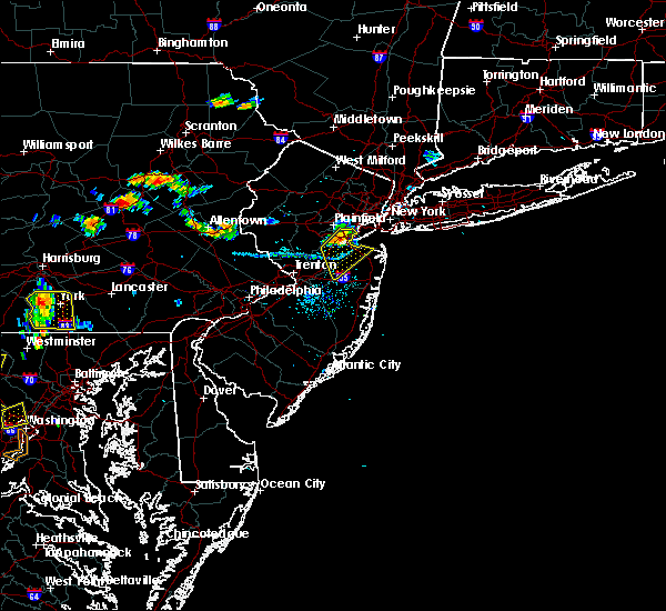 Radar Image for Severe Thunderstorms near Englishtown, NJ at 7/21/2019 7:58 PM EDT