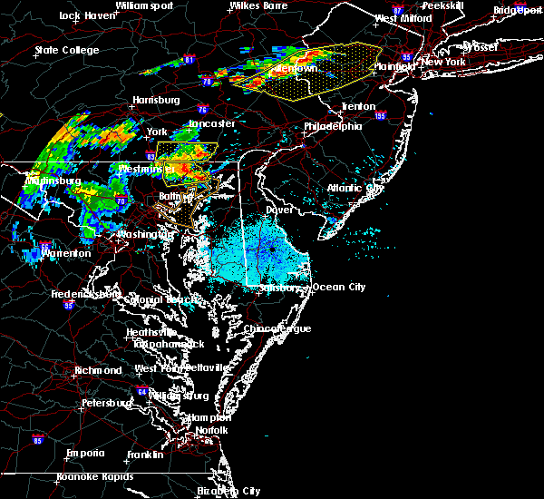 Radar Image for Severe Thunderstorms near Bear, DE at 7/21/2019 9:33 PM EDT