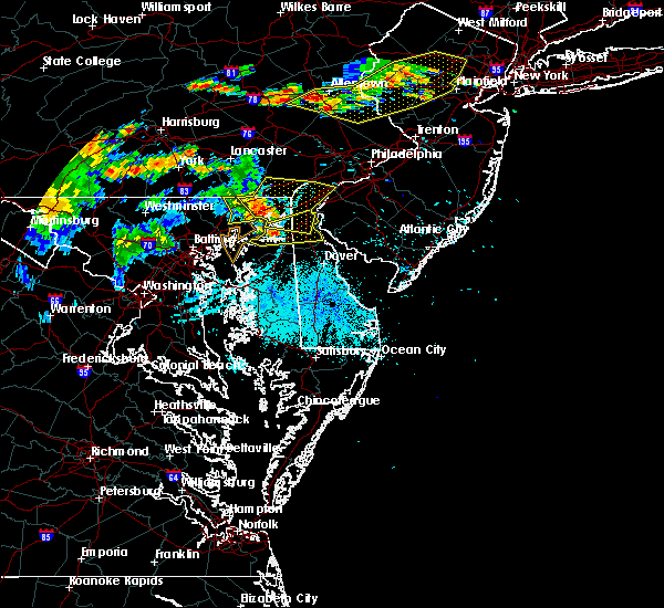 Radar Image for Severe Thunderstorms near Aberdeen, MD at 7/21/2019 9:57 PM EDT