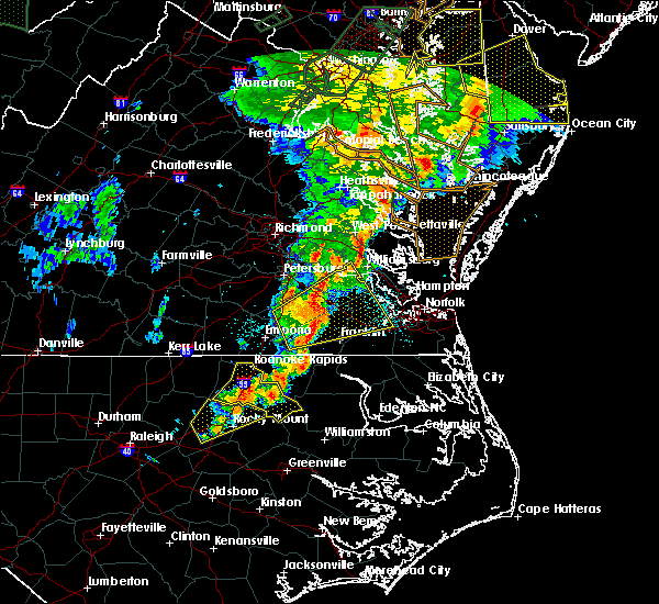 Radar Image for Severe Thunderstorms near Halifax, NC at 6/20/2015 10:57 PM EDT