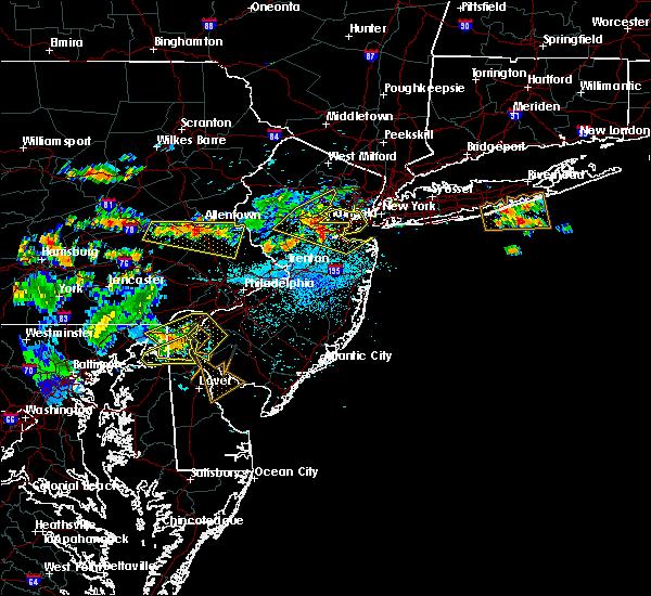 Radar Image for Severe Thunderstorms near Roselle Park, NJ at 7/21/2019 10:27 PM EDT