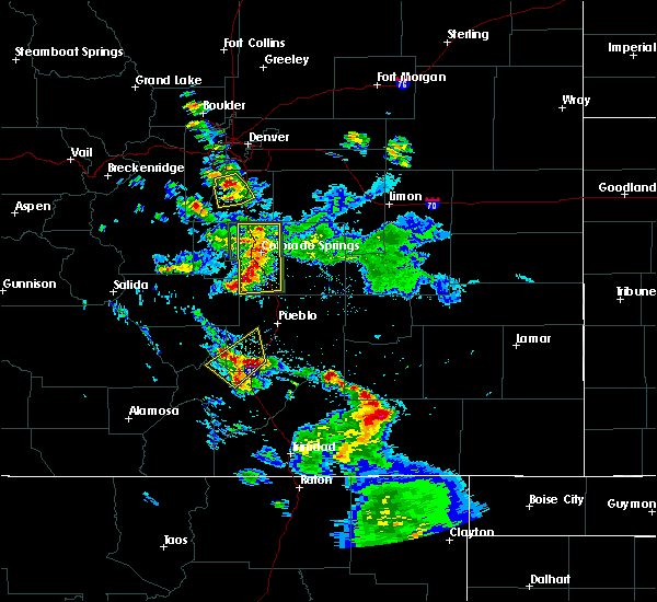 Radar Image for Severe Thunderstorms near Colorado City, CO at 7/21/2019 8:36 PM MDT